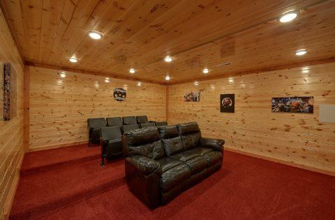Smoky Mountain 6 Bedroom Cabin with Theater Room - 1 Amazing Lodge