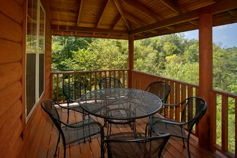 Private Cabin with Covered Deck and Wooded Views - 2 Tranquil 4 Words