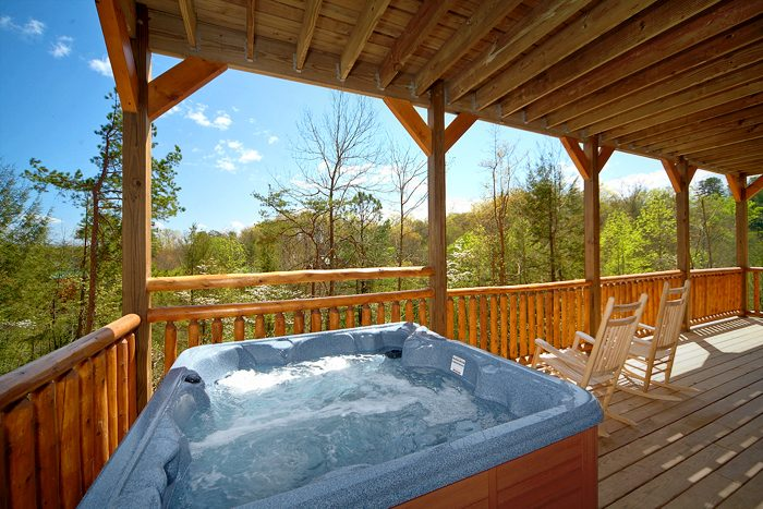 Hot Tub with views of the Great Smoky Mountians - 4 Your Pleasure