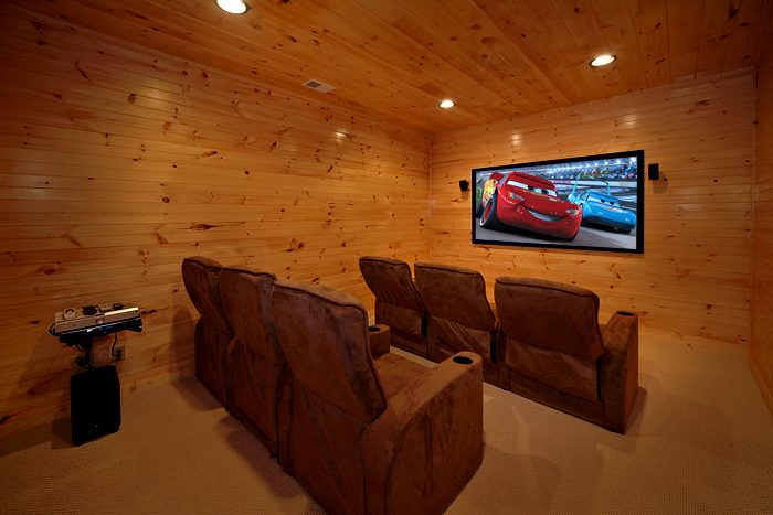 Pigeon Forge Cabin with Theater Room and Seating - 4 Your Pleasure