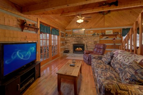 Cozy cabin with fireplace and sleeper sofa - A Bear Adventure