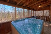 Private Hot tub on screened porch in cabin