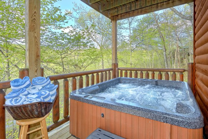 Premium 2 bedroom cabin with private hot tub - A Bear Endeavor