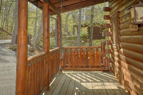 2 bedroom cabin with porch swing and hot tub - A Bear Endeavor