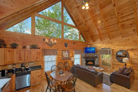 2 Bedroom cabin with fireplace in living room - A Bear Endeavor