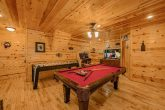 2 bedroom cabin with game room and pool table
