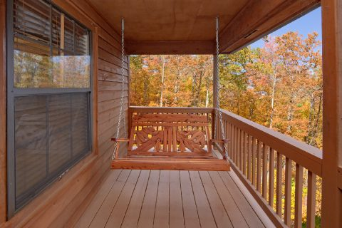 Swing on Deck 2 Bedroom Cabin Sleeps 6 - A Bear Trax