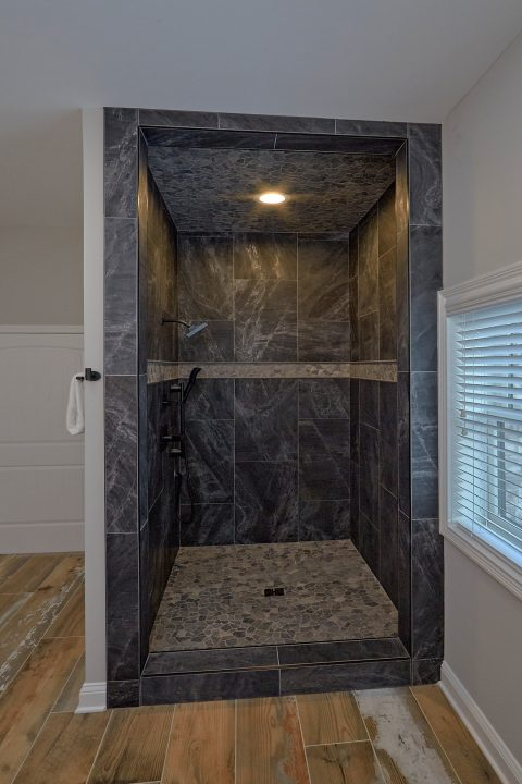 Luxurious shower in Private master Bath - A Castle in the Clouds