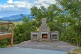 Premium Gatlinburg rental with outdoor fireplace