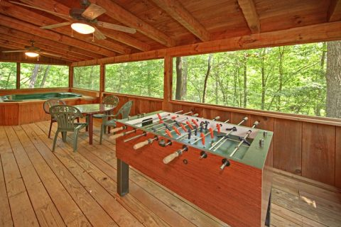 Cabin with Foose Ball Table - A Hidden Mountain 360