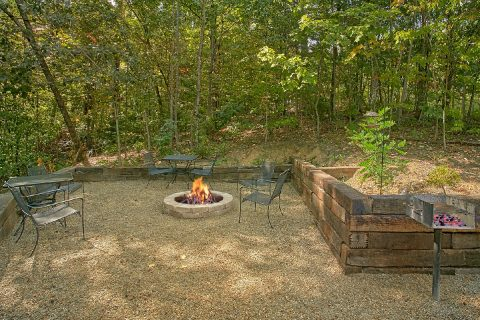 2 Bedroom Cabin with Fire Pit and Grill area - A Hummingbird Hideaway