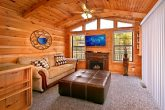 Cabin with electric fireplace