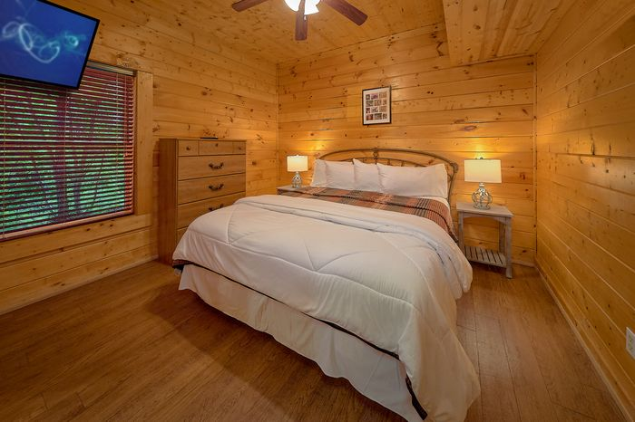 Bedroom with Wooded View - A Mountain Lodge