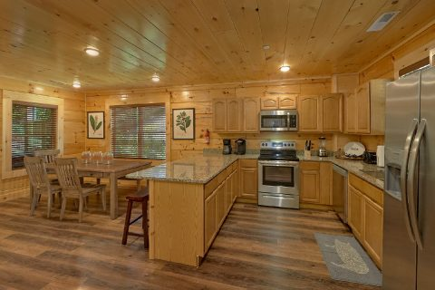 Fully stocked kitchen in 5 bedroom luxury cabin - A Mountain Palace