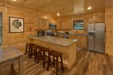 Spacious kitchen and dining area in cabin rental