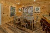 Dining room in 5 bedroom luxury cabin