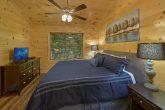 King bedroom with bath in 5 bedroom cabin rental
