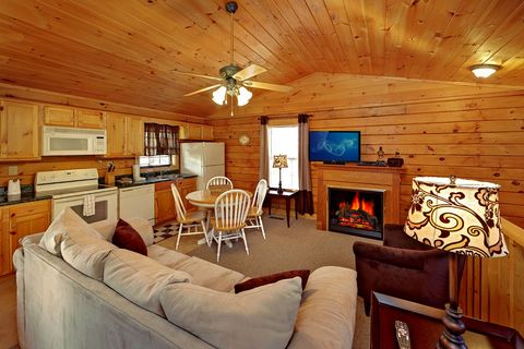 Living Room with Gas Fireplace - A Mountain Retreat