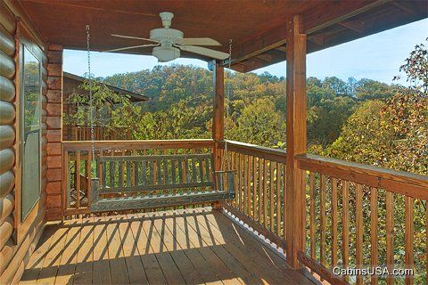 Deck with Swing & Scenic View - A Mountain Retreat
