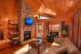 Honeymoon Cabin with Fireplace and Sleeper Sofa