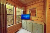 1 Bedroom Cabin with Dresser and TV