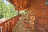 Spacious cabin with Rocking chairs and Deck