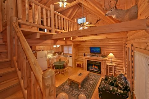 Pigeon Forge Cabin with fireplace & sleeper sofa - A Rocky Top Memory