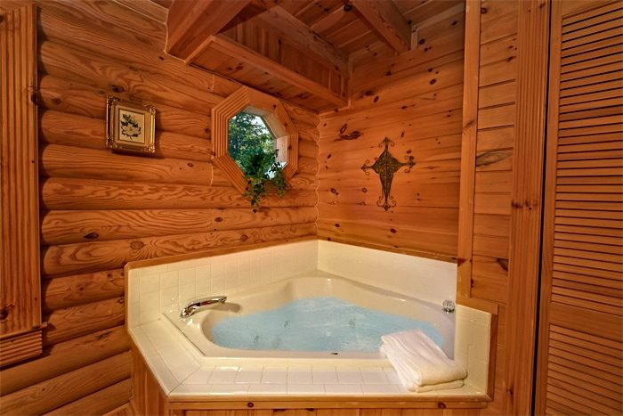 2 bedroom cabin with jacuzzi and private bath - A Rocky Top Memory