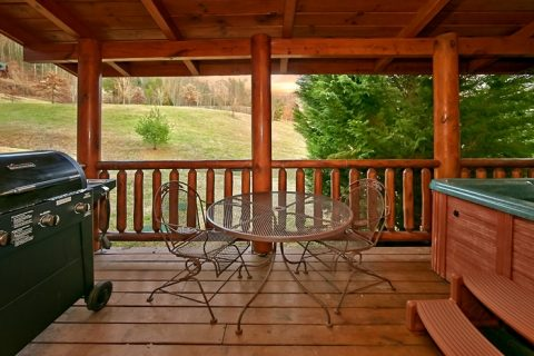 2 bedroom cabin with covered porch and gas grill - A Rocky Top Memory