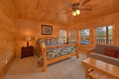 Master Bedroom Lower Level 4 Bedroom Cabin - A Rocky Top Ridge