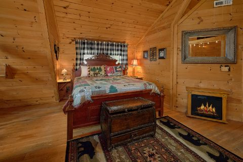 King Bedroom with Electric Fireplace and WiFi - A Romantic Hilltop