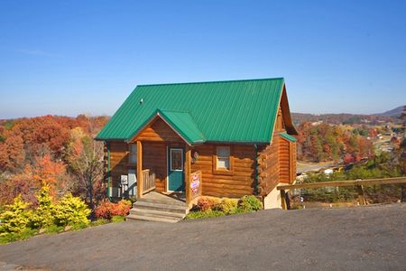 Peek A View: 1 Bedroom Sevierville Cabin Rental