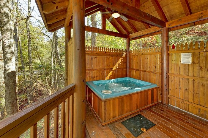 Pigeon Forge Cabin with Private Outdoor Hot Tub - A Romantic Retreat