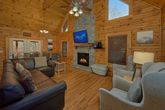 Living Room with fireplace at 4 Bedroom cabin