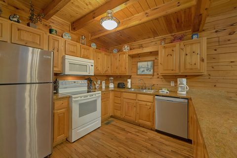 Full Kitchen in 4 bedroom cabin rental - A Smoky Mountain Experience