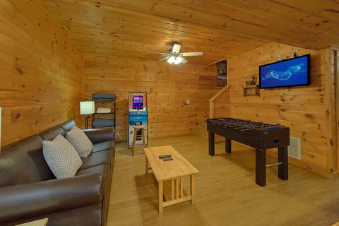 Cabin Game Room with Arcade Game and foosball - A Smoky Mountain Experience