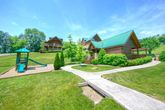 4 bedroom cabin with kids playground