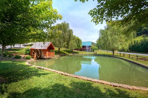 4 bedroom cabin with pond, pool and playground - A Smoky Mountain Experience