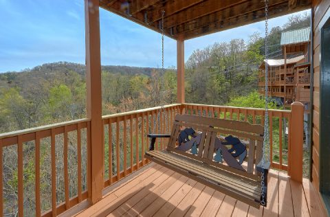 Mountain Views from Gatlinburg cabin deck - A Spectacular View to Remember