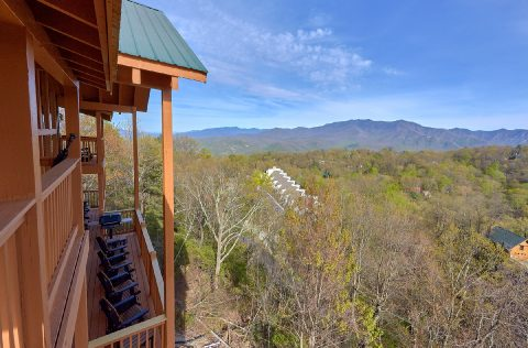 5 Bedroom cabin overlooking Ober Gatlinburg - A Spectacular View to Remember