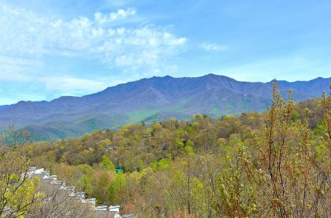 Cabin overlooking Ober Gatlinburg Ski Resort - A Spectacular View to Remember