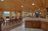 Spacious kitchen and Dining room in rental cabin