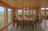 Luxury Cabin with mountain view from dining room