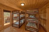Gatlinburg Rental cabin with triple bunk beds