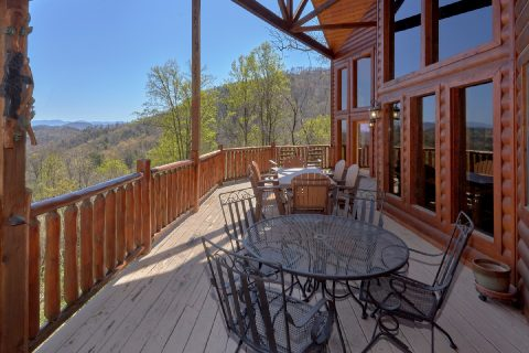 Mountain Views from deck of 5 Bedroom cabin - A Stunning View
