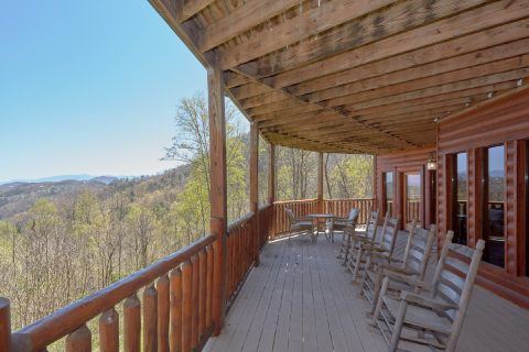 Views of the Smoky Mountains from luxury cabin - A Stunning View