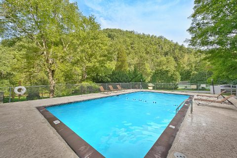 Resort Pool for 5 bedroom cabin - A Stunning View