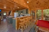 3 bedroom cabin with full kitchen and bar stools