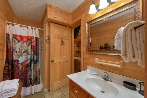 Bathroom with Walk-in Shower - A Wolf's Den