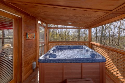 2 Bedroom Cabin near Pigeon Forge with Hot Tub - A Wolf's Den